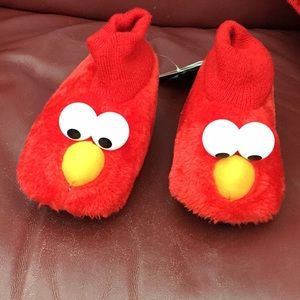 Elmo puppet slippers NWT